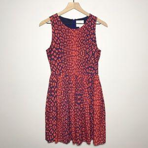 WREN Leopard Print Cutout Pleated Dress